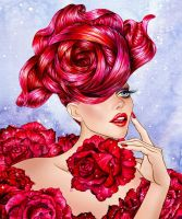 Женщина роза