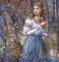 Славянская девушка из сказки
