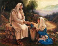 Иисус христос и самарянка у колодца