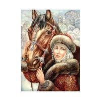 Барышня с конём