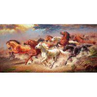 Табун лошадей в беге