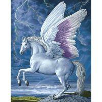 Крылатый белый конь