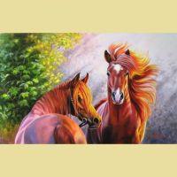 Пара рыжих лошадей