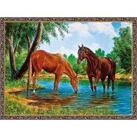 Лошадки под ивушкой