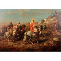 Арабские всадники. Адольф Шрайер