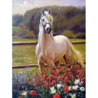 Лошадь и цветы