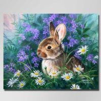 Зайчонок в ромашках