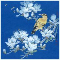 Композиция из цветов и птиц 3