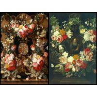 Карстиан Люйкс олицетворение времени в цветочной гирлянде
