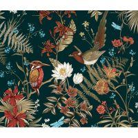 Композиция Цветы и птицы