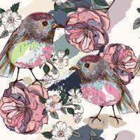 Цветы и птицы в композициях