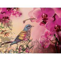 Цветочная композиция с птицами 5