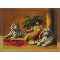 Клеопатра и два белых тигра