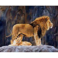 Львица и маленький львенок