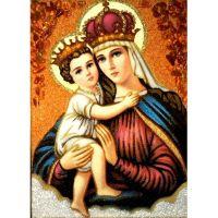 Богородица и младенец в короне