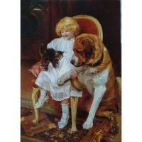 Девочка с собакой. Элсли, Артур Джон