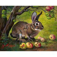 Русак и яблоки