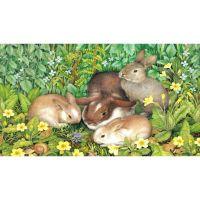 Мама зайка с зайчатами
