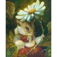 Мышка с ромашкой