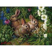 Три зайчонка в кустах