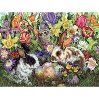Пасхальные  яйца и зайцы