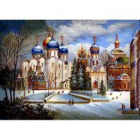 Храмы в живописи зимой.