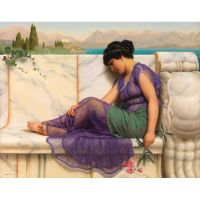 Летнее безделье автора John William Godward.