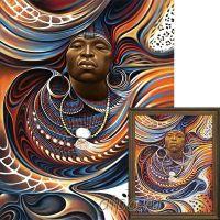Работы африканских художников. Вождь