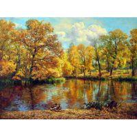 Золотая осень в Гатчинском парке. Художник Екатерина Калиновская