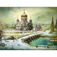 Вид на Храм Христа спасителя. Москва.