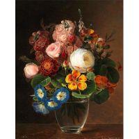 Цветочный натюрморт а стеклянном графине
