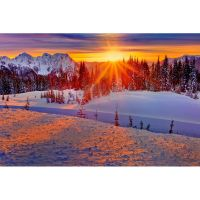 Красивый зимний закат