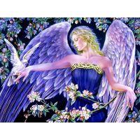 Красивый ангел с голубем