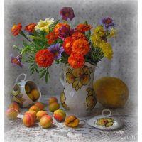 Натюрморт с абрикосами