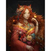 Рыжая арт красавица