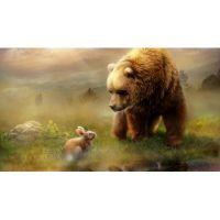Медведь и зайчонок