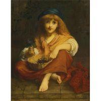 Портрет Мисс Джулия Меткалф с собакой. Жан Батист Грез