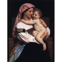 Женщина Кервары и ее ребенок .Адольф Вильям Бугро
