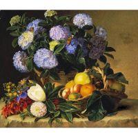 Цветочная живопись датского художника Иогана Йенсена