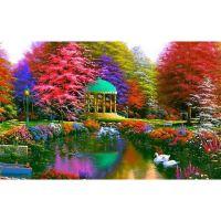 Цветной парк и лебеди