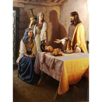Иисус у Марфы и Марии. Художник Станислав Плутенко