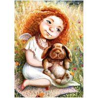 Ангелочек с кроликом