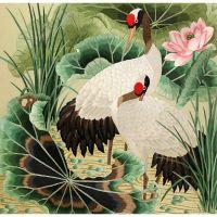 Китайская живопись Журавли