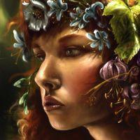 Девушка цветочная