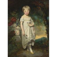 Портрет мисс Элизабет Баклер на фоне пейзажа