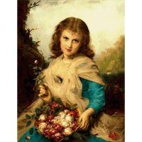 Девочка с розами. Французский художник Этьен Адольф Пиот