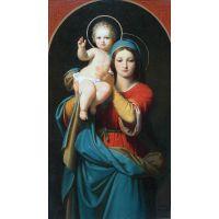 Мадонна с младенцем. Художник Carl von Blaas