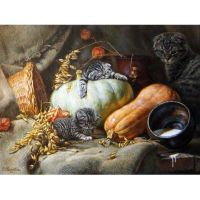 Осенне-летние дары природы и коты