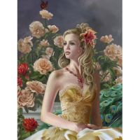 Девушка и розы. Nene Thomas