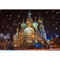 Спас на Крови зимним вечером, Санкт-Петербург